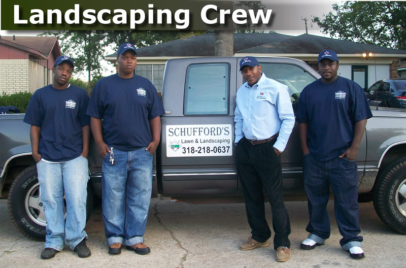 schufford's lawn and landscaping crew
